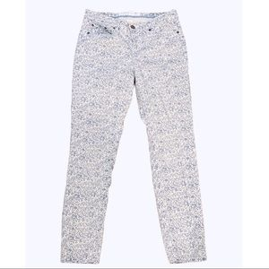 H&M Blue White Floral Chinos Jeans Pants Skinny 8